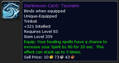 Darkmoon Faire Tsunami card