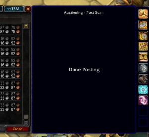 Soon finished posting the items with Trade Skill Master
