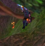 Picking Cinderbloom in Mount Hyjal