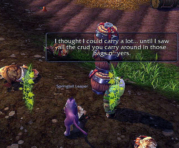 That's not crud in my bags, you offensive panda
