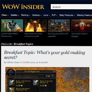 wowinsider Whats Your Gold Making Secret?