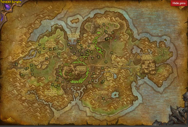 Wowhead's Witherered Herb Map http://www.wowhead.com/object=243334/withered-herb
