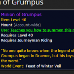 Minion of Grumpus BoE Mount Farming