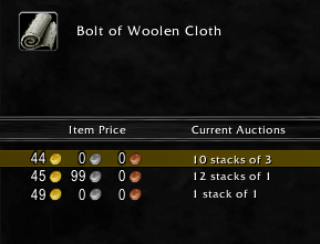 bolt of woolen cloth