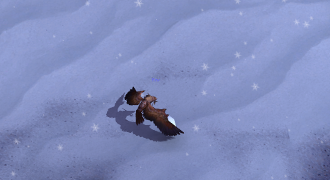 druid looting snow mound
