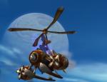 turbo flying machine mount