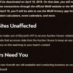 Warcraft Mobile Auction House Dies Quietly in a Corner