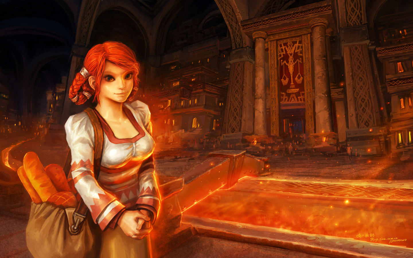 Myra Tyrngaarde, Ironforge Bread Vendor, Fan Art
